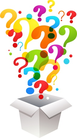 Fragezeichen: Box mit Fragezeichen Icons Illustration