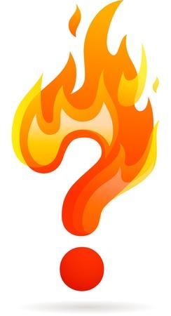 Hot question mark icon Vector