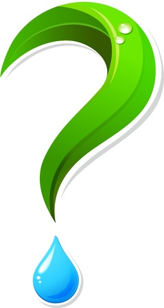 environmental conservation: Ecology question mark icon Illustration