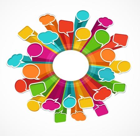 speak bubble: speech bubbles background
