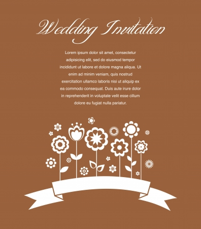 Greeting card, invitation, wedding or announcement Vector