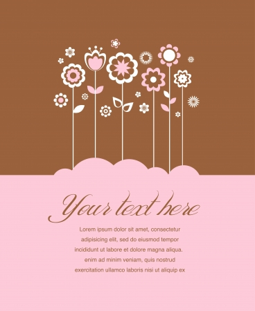 Greeting card, invitation, wedding or announcement Stock Vector - 14265979