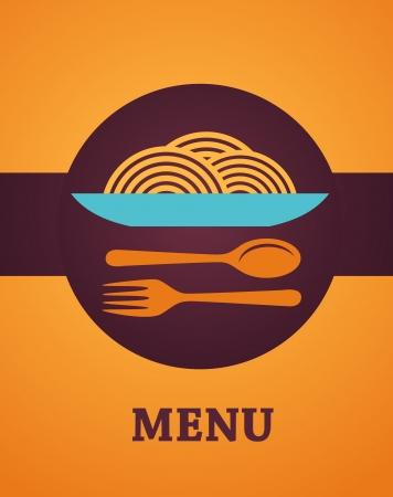 plato pasta: El dise�o del men� del restaurante Vectores