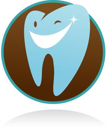 clínica dental icono del vector - diente sonrisa