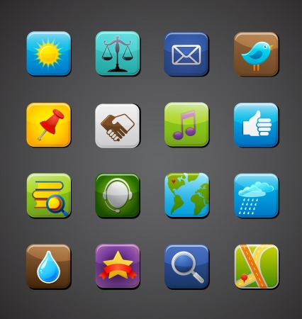collection of apps icons Vector