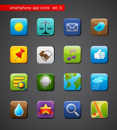wheater: collection of apps icons
