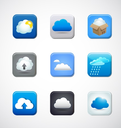 cloud app icons Vector