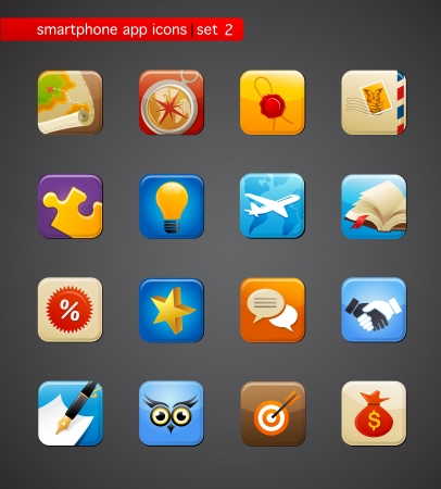 collection of apps icons Stock Photo - 15327288