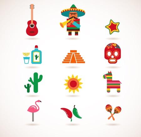 Mexico love   イラスト・ベクター素材