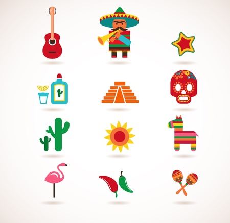 mexican party: Mexico love  Illustration