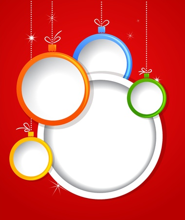 Christmas background with balls decorations Stock Photo - 15597043