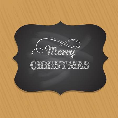 Chalkboard Christmas background with elegant text Stock Vector - 16001680