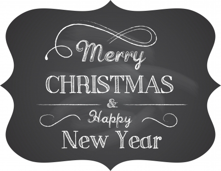 Chalkboard Christmas background with elegant text Stock Vector - 16001678