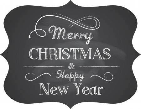 Tableau de Noël arrière-plan avec texte élégant