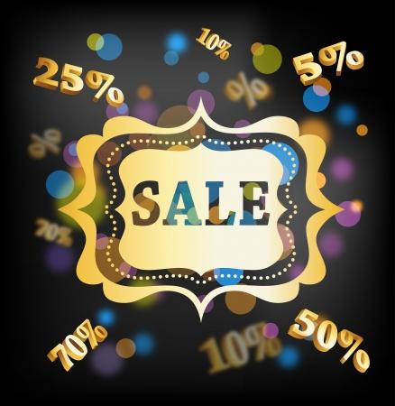 Elegant golden Christmas background - Sale Stock Vector - 16001682