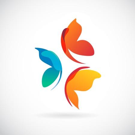 mariposas diseño de fondo Ilustración de vector