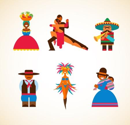 ecuador: South American people - concept illustration