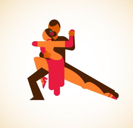 tango: Tango dancer - vector illustration