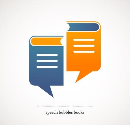 book talks - vector concept design with speech bubbles Stock Photo - 17632635