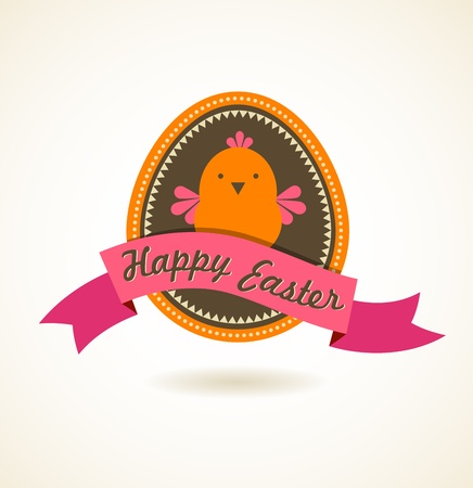 Easter vintage style greeting card Stock Vector - 17896117