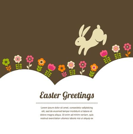 joyeuses p�ques: Carte de P�ques de cru salutation de style Illustration