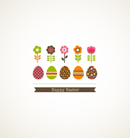 chocolate egg: greeting card with floweres