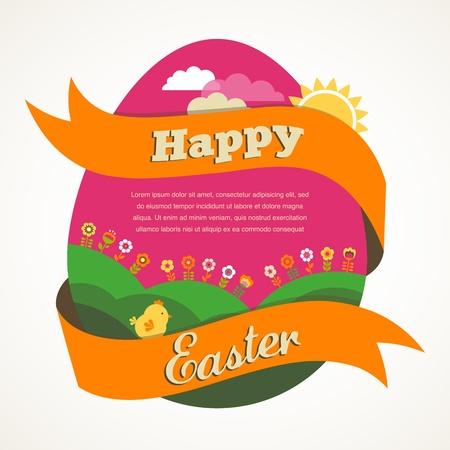 Easter vintage style greeting card Illustration