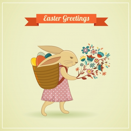 Easter vintage style greeting card photo