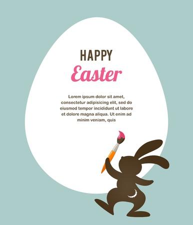 easter bunny: Ostern-Karte mit Häschen