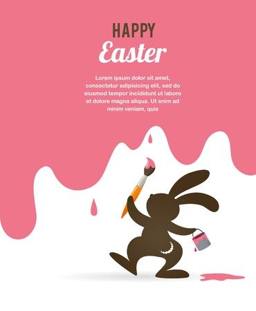 pascuas navide�as: Tarjeta de Pascua con el conejito Vectores
