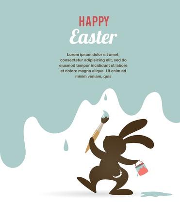 buona pasqua: Pasqua scheda con coniglietto