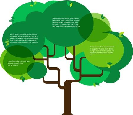 earth friendly: Infograf�a de la ecolog�a, concepto de dise�o con el �rbol Vectores