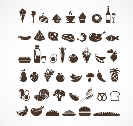 french bakery: Food icons and elements