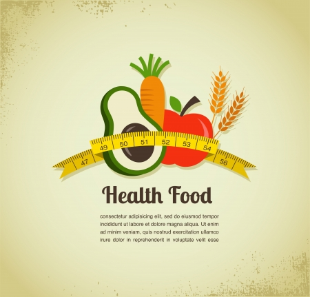 Health food background photo