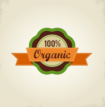 Organic food label, tag and graphi element photo