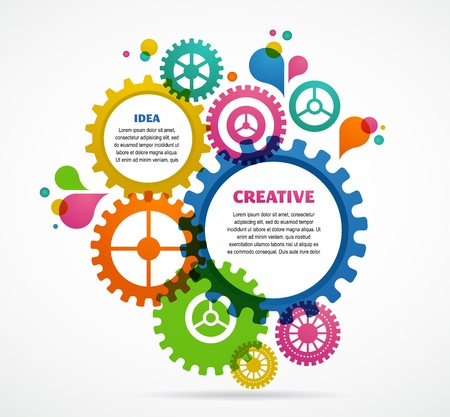 gear cog: Industrial abstract colorful background design