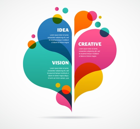 visual: abstract colorful background with text space