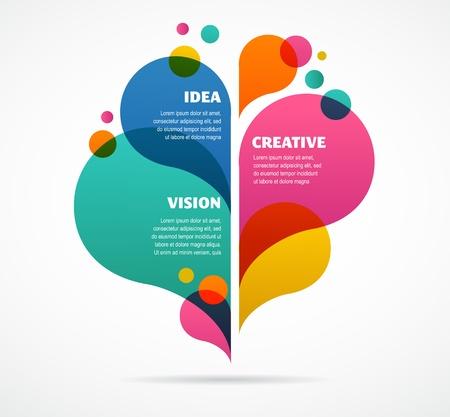 barvitý: abstraktní barevné pozadí s prostor pro text Ilustrace