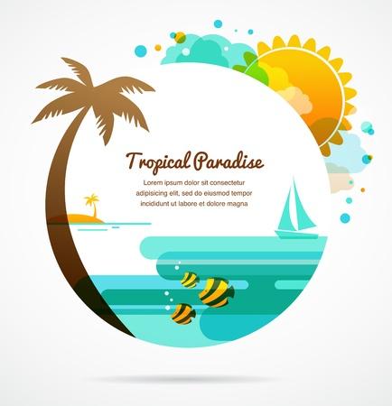 hawaiana: paraíso tropical Vectores