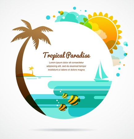 coconut palm: tropical paradise Illustration
