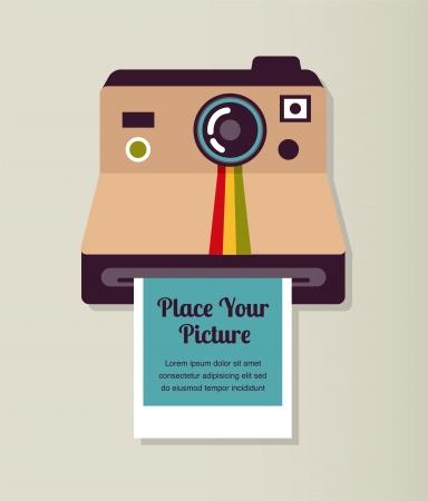 polaroid: ancien appareil photo vintage avec photo