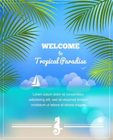 hawaiian: tropical paradise background Stock Photo