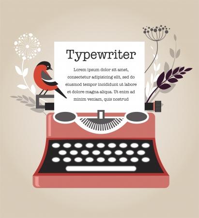 typewriter: M�quina de escribir Vintage