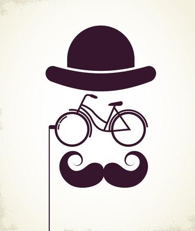 mustaches: Gentlemen with Bicycle eyeglass