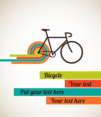 bicycle silhouette: Bicycle vintage style poster Illustration