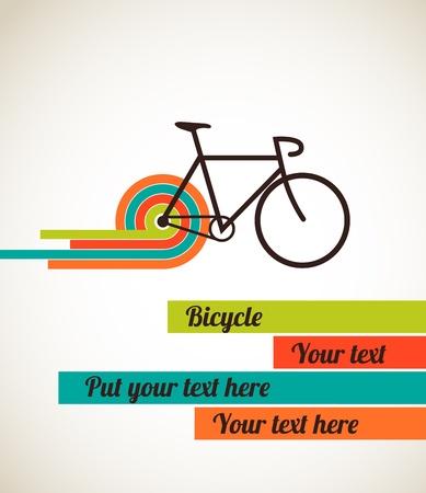 retro bicycle: Cartel de la bicicleta estilo vintage Vectores
