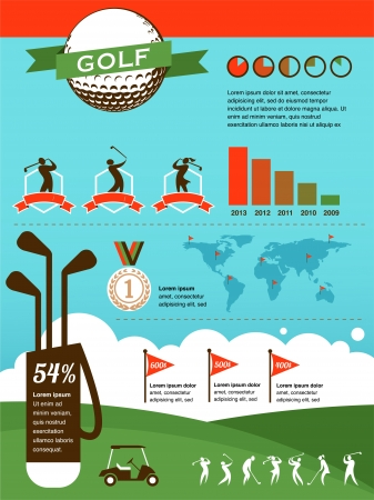 golf stick: Infograf�a Golf Vectores