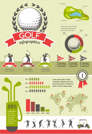 golf stick: Golf infographics