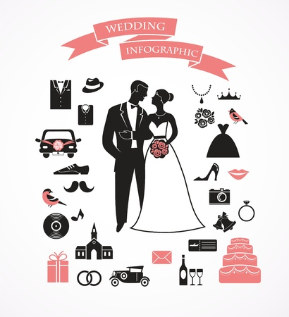 wedding set with graphic elements Stock Vector - 19820450