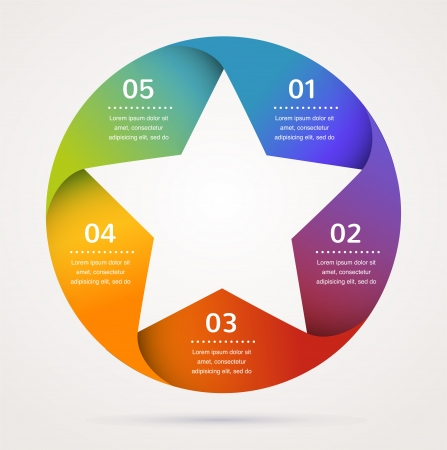 web layout: Star design and infographics, abstract background, icon